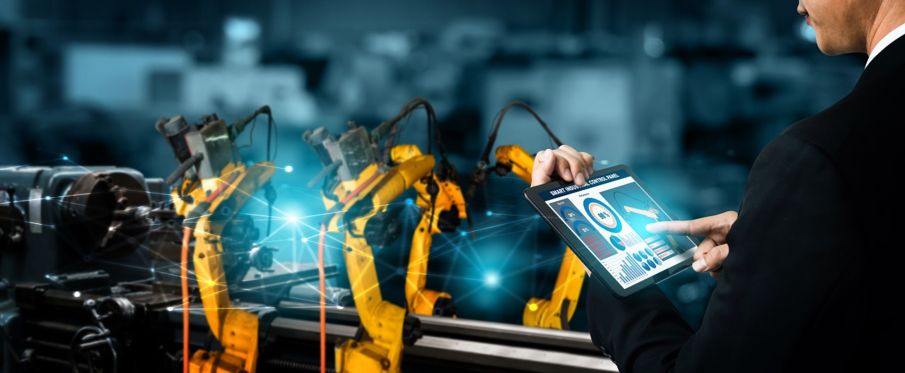 automation-setting-for-robotic-manufacturing-unit