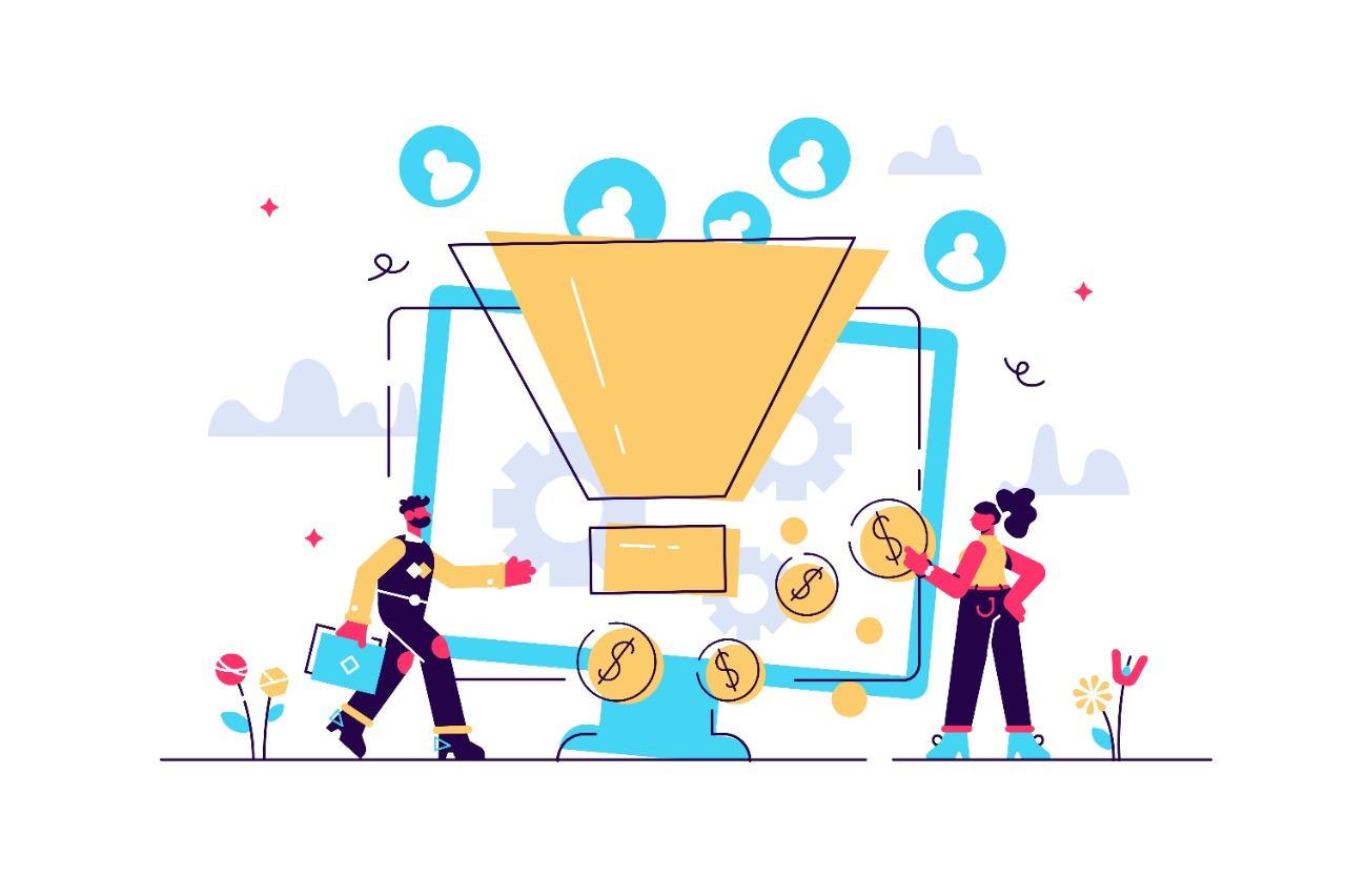 vector-illustration-of-a-good-sales-funnel