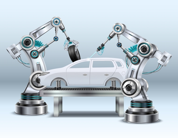 car-manufacturing-with-robotic-arms