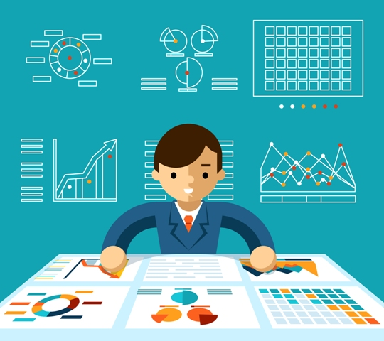 vector-image-showing-person-working-with-data-analytics