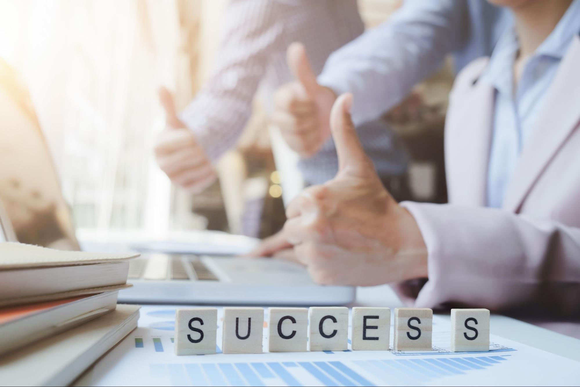 a-poster-saying-success