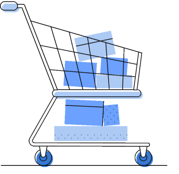 Shopping-trolley-with-goods-inside